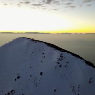Mountaintop Sunset Antenna POI