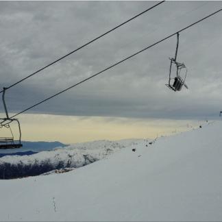 Ski Lifts Close Up