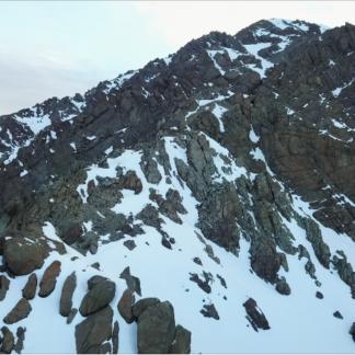 Snowy Rocky Mountain Trail