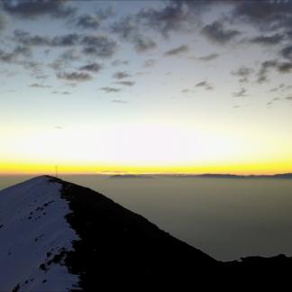 Mountaintop Sunset Antenna Pan